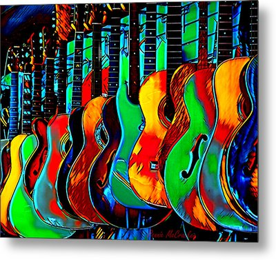 Metal Print featuring the digital art Colour Of Music by Pennie McCracken