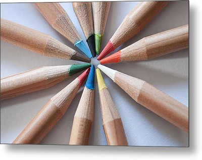 Coloured Pencils 2 Metal Print