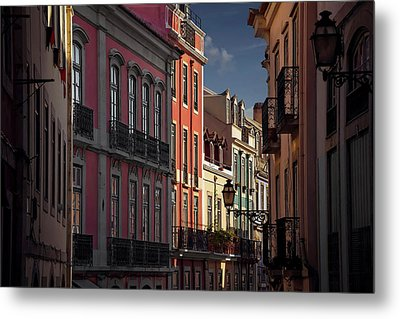 Colourful Architecture In Lisbon Portugal  Metal Print by Carol Japp