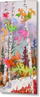 Colourful Birches 2 Metal Print by Mohamed Hirji