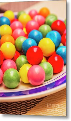 Colourful Bubblegum Candy Balls Metal Print by Jorgo Photography - Wall Art Gallery