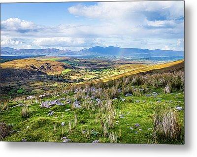Colourful Undulating Irish Landscape In Kerry  Metal Print by Semmick Photo
