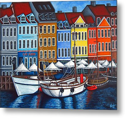 Colours Of Nyhavn Metal Print