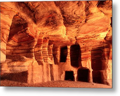 Colours Of Petra Metal Print by Paul Cowan