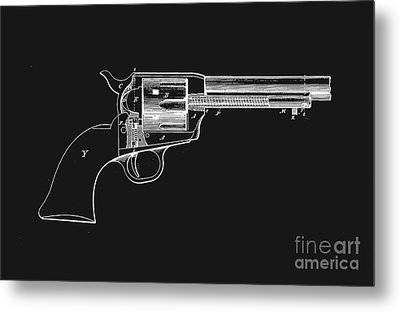 Colt Peacemaker Tee Metal Print by Edward Fielding