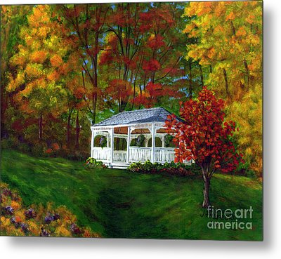 Metal Print featuring the painting Colton Gazebo by Judy Filarecki