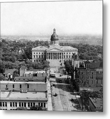 Columbia South Carolina - State Capitol Building - C 1905 Metal Print by International  Images