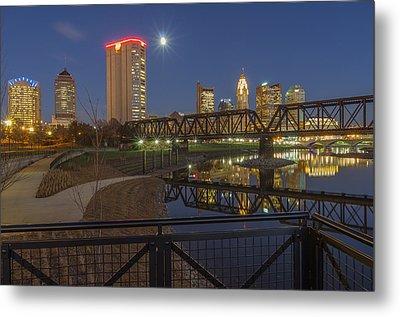Columbus Ohio Nightscape Metal Print by Scott McGuire