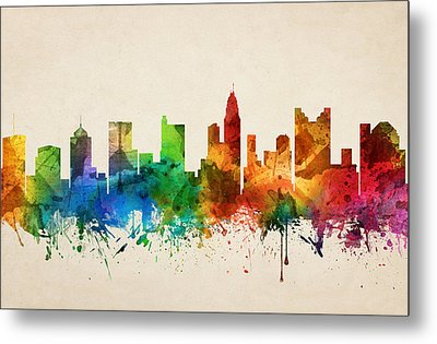 Columbus Ohio Skyline 05 Metal Print by Aged Pixel