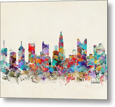 columbus Ohio skyline Metal Print by Bri B