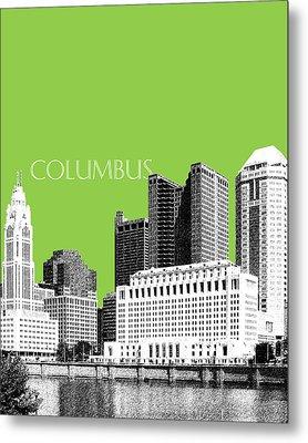 Columbus Ohio Skyline - Olive Metal Print