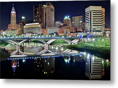 Columbus Over The Scioto Metal Print by Frozen in Time Fine Art Photography