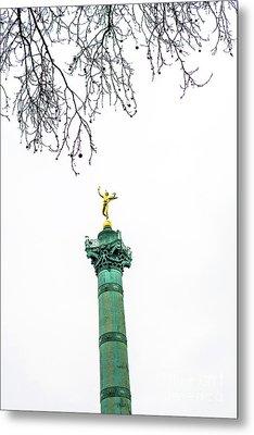 Column Of July. Bastille's Place. Paris. France. Metal Print by Bernard Jaubert