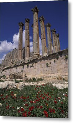 Columns In The Ancient Roman City Metal Print by Richard Nowitz