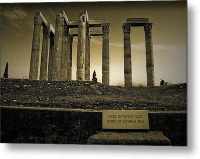 Columns Of The Olympian Zeus Metal Print by Maria Panagiotaki