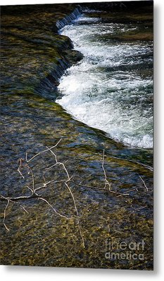 Combo A Stick And Water Metal Print by Stanton Tubb