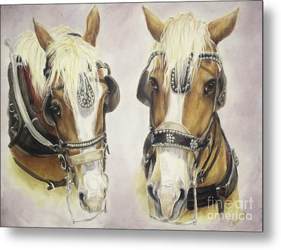 Metal Print featuring the painting Come Along Little Sister by Cathy Cleveland