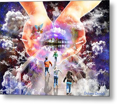Come As A Child Metal Print by Dolores Develde