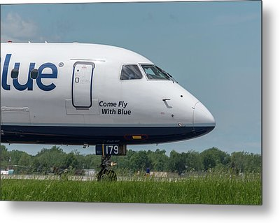 Come Fly With Blue Metal Print by Guy Whiteley