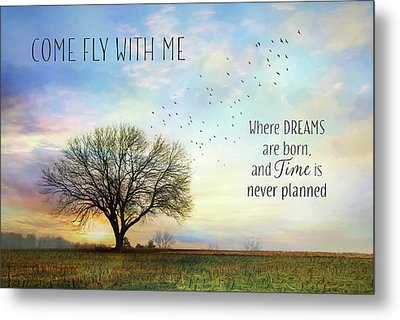 Metal Print featuring the photograph Come Fly With Me by Lori Deiter