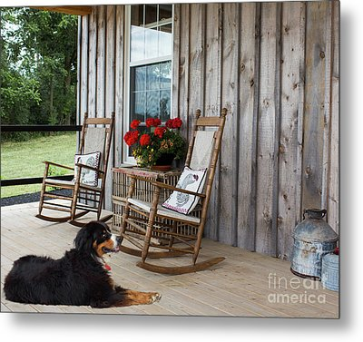 Come Sit A While Metal Print by Barbara McMahon