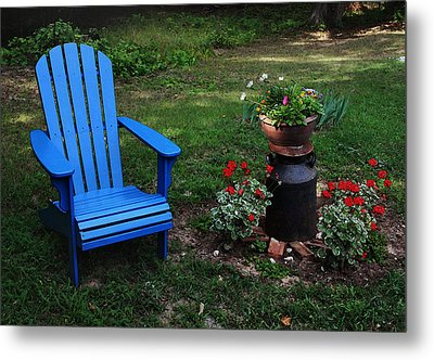 Metal Print featuring the photograph Come Sit  by Joanne Coyle