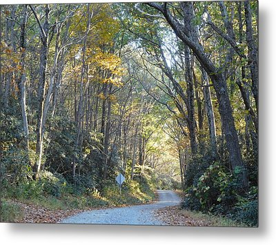 Come Walk Into Autumn With Me Metal Print