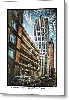 Comerica Tower Metal Print by Donald Yenson