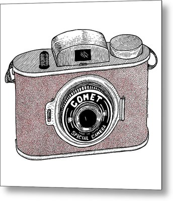 Comet Camera Metal Print by Karl Addison