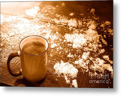 Comfort - Sepia Metal Print by Olivier Le Queinec