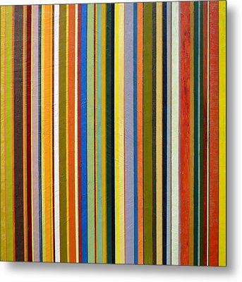 Comfortable Stripes Metal Print by Michelle Calkins