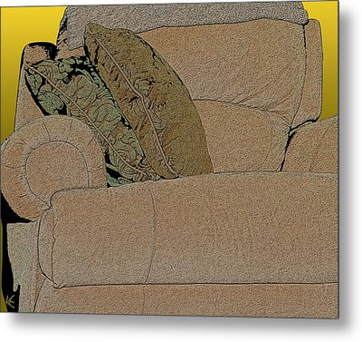 Comfy Chair Metal Print