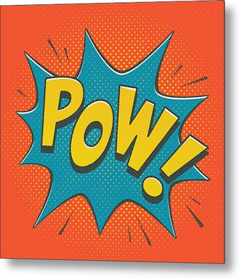 Comic Pow Metal Print by Mitch Frey