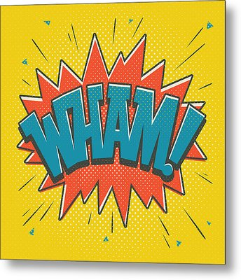Comic Wham Metal Print by Mitch Frey