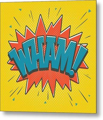 Comic Wham Metal Print