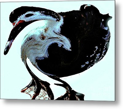 Metal Print featuring the digital art Comical Psychedelic Duck by Merton Allen