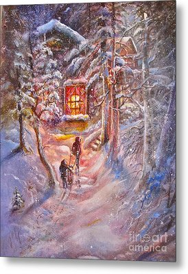 Coming Home Metal Print by Patricia Schneider Mitchell