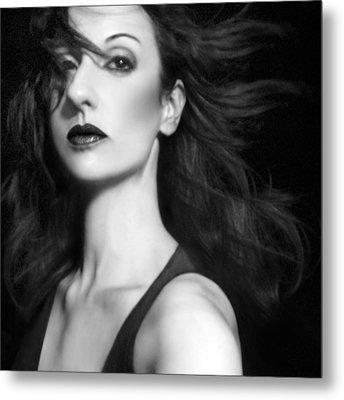 Commanding The Chaos - Self Portrait Metal Print by Jaeda DeWalt