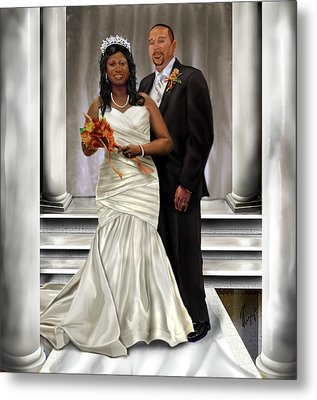 Commissioned Wedding Portrait  Metal Print by Reggie Duffie