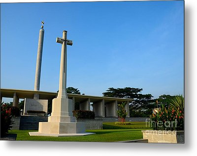 Commonwealth War Graves Commission Kranji Memorial Cemetery Monument Singapore Metal Print