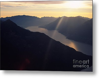 Como Lake Metal Print by Riccardo Mottola