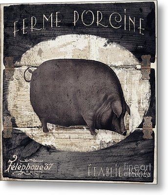 Compagne II Pig Farm Metal Print by Mindy Sommers