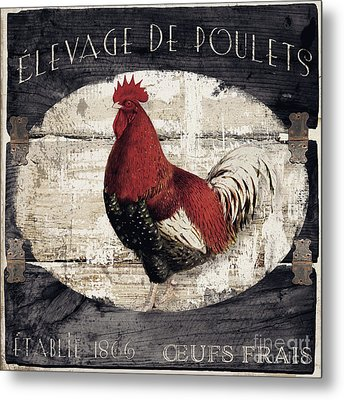 Compagne IIi Rooster Farm Metal Print