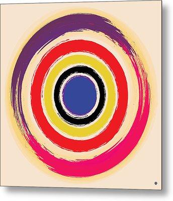 Compass Brush Metal Print by Gary Grayson
