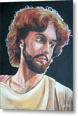 Metal Print featuring the painting Compassionate Christ by Bryan Bustard