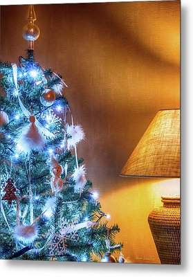 Complementary Christmas Tree Metal Print by Wim Lanclus