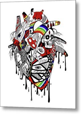Complex Pride Heart Metal Print