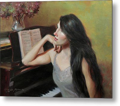 Composing Thoughts Metal Print by Anna Rose Bain