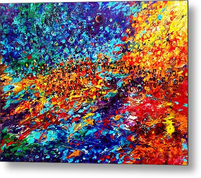 Composition # 5. Series Abstract Sunsets Metal Print