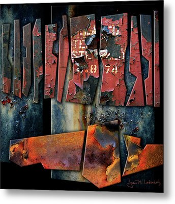 Composition 2 Metal Print by Joan Ladendorf